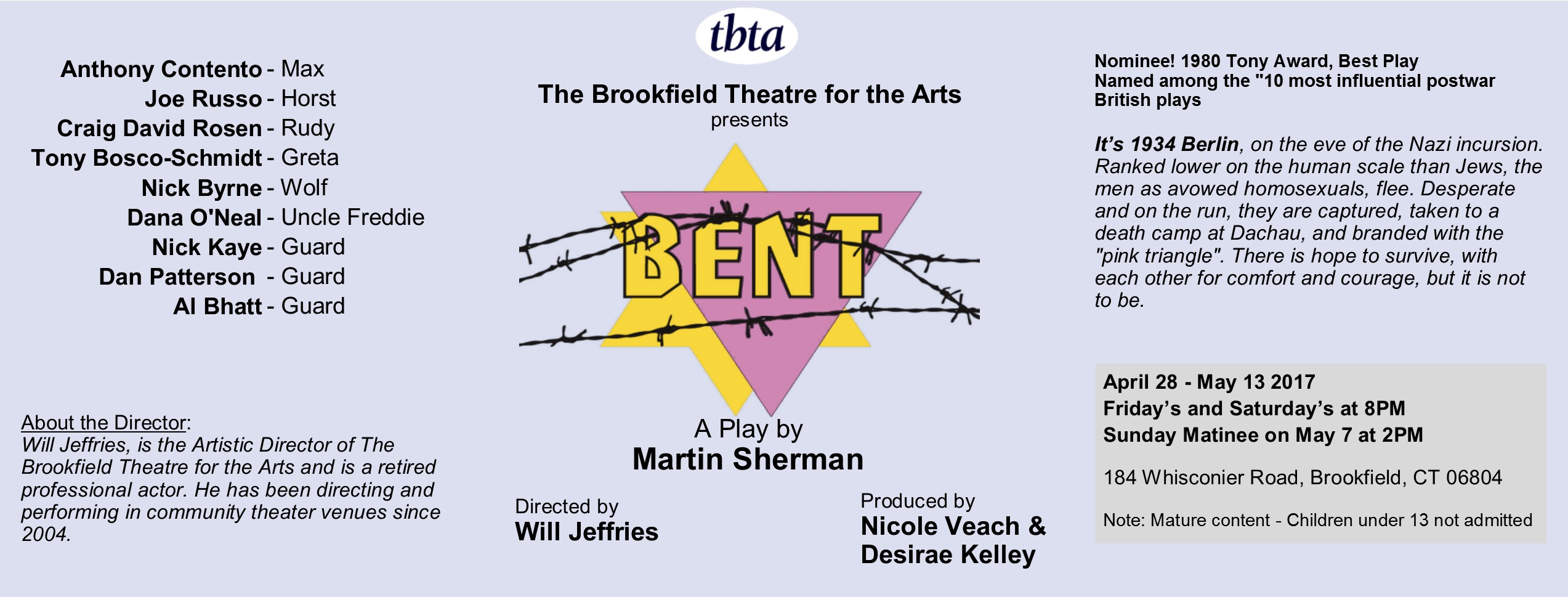 Bent A Play by Martin Sherman